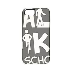 Bicycle Walk Bike School Sign Grey Apple Iphone 5 Classic Hardshell Case (pc+silicone) by Alisyart