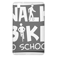 Bicycle Walk Bike School Sign Grey Samsung Galaxy Tab Pro 8 4 Hardshell Case by Alisyart
