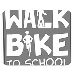 Bicycle Walk Bike School Sign Grey Double Sided Flano Blanket (medium)  by Alisyart