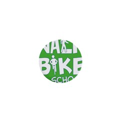 Bicycle Walk Bike School Sign Green Blue 1  Mini Magnets by Alisyart