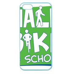 Bicycle Walk Bike School Sign Green Blue Apple Seamless Iphone 5 Case (color) by Alisyart