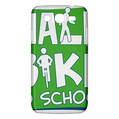 Bicycle Walk Bike School Sign Green Blue Samsung Galaxy Mega 5 8 I9152 Hardshell Case  by Alisyart