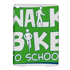 Bicycle Walk Bike School Sign Green Blue Ipad Air 2 Hardshell Cases by Alisyart