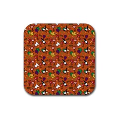 Wine Cheede Fruit Purple Yellow Orange Rubber Coaster (square)  by Alisyart