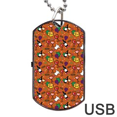 Wine Cheede Fruit Purple Yellow Orange Dog Tag Usb Flash (one Side) by Alisyart