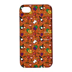 Wine Cheede Fruit Purple Yellow Orange Apple Iphone 4/4s Hardshell Case With Stand by Alisyart