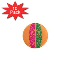 Brian Pink Green Orange Smart 1  Mini Magnet (10 Pack)  by Alisyart