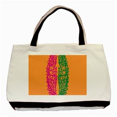 Brian Pink Green Orange Smart Basic Tote Bag by Alisyart