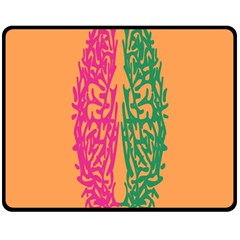Brian Pink Green Orange Smart Fleece Blanket (medium)  by Alisyart