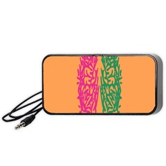 Brian Pink Green Orange Smart Portable Speaker (black) by Alisyart