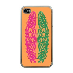 Brian Pink Green Orange Smart Apple Iphone 4 Case (clear)