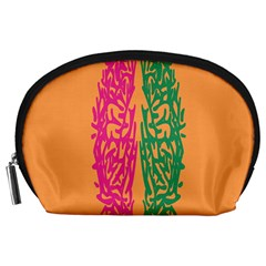 Brian Pink Green Orange Smart Accessory Pouches (large)  by Alisyart