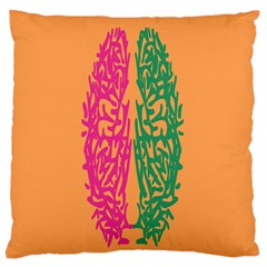 Brian Pink Green Orange Smart Standard Flano Cushion Case (two Sides) by Alisyart