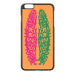 Brian Pink Green Orange Smart Apple Iphone 6 Plus/6s Plus Black Enamel Case by Alisyart