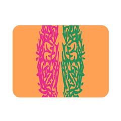 Brian Pink Green Orange Smart Double Sided Flano Blanket (mini)  by Alisyart
