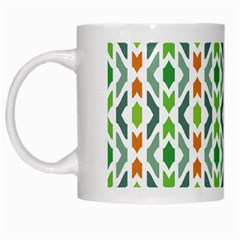 Chevron Wave Green Orange White Mugs by Alisyart