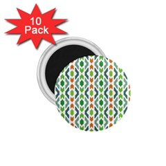 Chevron Wave Green Orange 1 75  Magnets (10 Pack)  by Alisyart