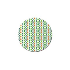 Chevron Wave Green Orange Golf Ball Marker (10 Pack) by Alisyart