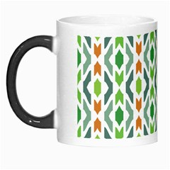 Chevron Wave Green Orange Morph Mugs by Alisyart