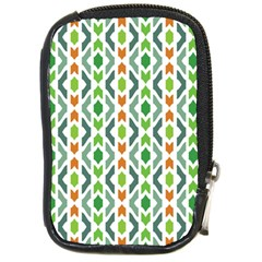 Chevron Wave Green Orange Compact Camera Cases by Alisyart