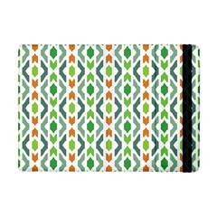 Chevron Wave Green Orange Apple Ipad Mini Flip Case by Alisyart