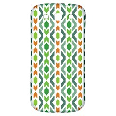 Chevron Wave Green Orange Samsung Galaxy S3 S Iii Classic Hardshell Back Case by Alisyart