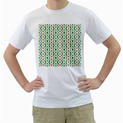 Chevron Wave Green Orange Men s T Shirt (white)  by Alisyart