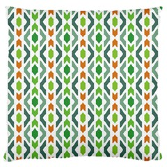 Chevron Wave Green Orange Standard Flano Cushion Case (one Side) by Alisyart