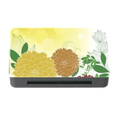 Abstract Flowers Sunflower Gold Red Brown Green Floral Leaf Frame Memory Card Reader With Cf by Alisyart