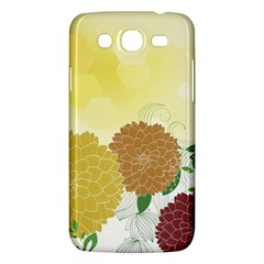 Abstract Flowers Sunflower Gold Red Brown Green Floral Leaf Frame Samsung Galaxy Mega 5 8 I9152 Hardshell Case  by Alisyart