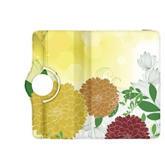 Abstract Flowers Sunflower Gold Red Brown Green Floral Leaf Frame Kindle Fire Hdx 8 9  Flip 360 Case by Alisyart