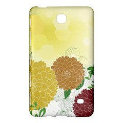 Abstract Flowers Sunflower Gold Red Brown Green Floral Leaf Frame Samsung Galaxy Tab 4 (8 ) Hardshell Case  by Alisyart