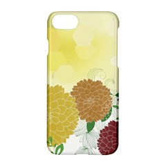 Abstract Flowers Sunflower Gold Red Brown Green Floral Leaf Frame Apple Iphone 7 Hardshell Case by Alisyart