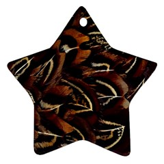 Feathers Bird Black Ornament (star)