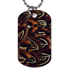 Feathers Bird Black Dog Tag (one Side) by Simbadda