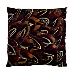 Feathers Bird Black Standard Cushion Case (two Sides) by Simbadda