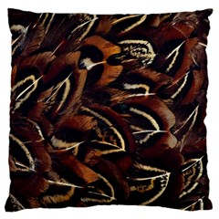 Feathers Bird Black Large Cushion Case (one Side) by Simbadda