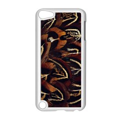 Feathers Bird Black Apple Ipod Touch 5 Case (white) by Simbadda