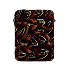 Feathers Bird Black Apple Ipad 2/3/4 Protective Soft Cases by Simbadda