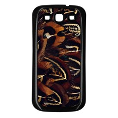 Feathers Bird Black Samsung Galaxy S3 Back Case (black) by Simbadda