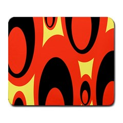 Circle Eye Black Red Yellow Large Mousepads by Alisyart