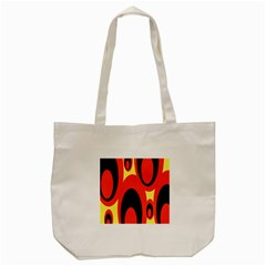 Circle Eye Black Red Yellow Tote Bag (cream) by Alisyart