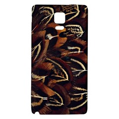 Feathers Bird Black Galaxy Note 4 Back Case by Simbadda