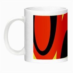 Circle Eye Black Red Yellow Night Luminous Mugs by Alisyart