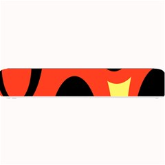Circle Eye Black Red Yellow Small Bar Mats by Alisyart