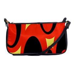 Circle Eye Black Red Yellow Shoulder Clutch Bags by Alisyart