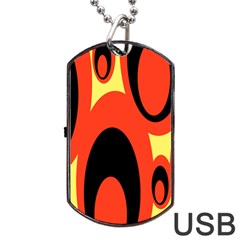 Circle Eye Black Red Yellow Dog Tag Usb Flash (two Sides) by Alisyart