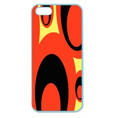 Circle Eye Black Red Yellow Apple Seamless Iphone 5 Case (color) by Alisyart