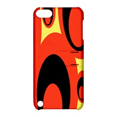 Circle Eye Black Red Yellow Apple Ipod Touch 5 Hardshell Case With Stand by Alisyart