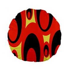 Circle Eye Black Red Yellow Standard 15  Premium Flano Round Cushions by Alisyart